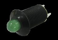 LED PILOT LIGHT 6 - 32V 2 TERMINAL GREEN