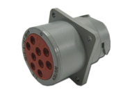 RECEPTACLE SQUARE FLANGES MALE (NON THREADED) HD10 - 9 PIN 9 x #16 CONTACT (STANDARD LAYOUT) DEUTSCH # HD10-9-16P