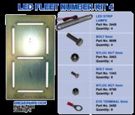 LED FLEET NUMBER KIT 4