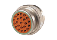 PLUG FEMALE WITH CLAMP ASSEMBLY HD36 - 23 PIN - 23 x #16 CONTACT DEUTSCH # HD36-24-23PN-059