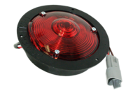 SHALLOW NYLON VL LAMP STOP / TAIL NEGATIVE SWITCHING RED, CABLE ENTRY: SIDE