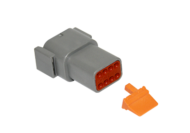 CONNECTOR RECEPTACLE 8 PIN COMPLETE WITH LOCKING WEDGE DEUTSCH # DTM04-8P-W