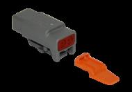 CONNECTOR PLUG 2 SOCKET COMPLETE WITH LOCKING WEDGE DEUTSCH # DTM06-2S-W