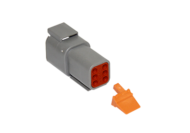 CONNECTOR RECEPTACLE 6 PIN COMPLETE WITH LOCKING WEDGE DEUTSCH # DTM04-6P-W