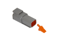 CONNECTOR RECEPTACLE 4 PIN COMPLETE WITH LOCKING WEDGE DEUTSCH # DTM04-4P-W
