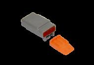 CONNECTOR PLUG 3 SOCKET COMPLETE WITH LOCKING WEDGE DEUTSCH # DTM06-3S-W