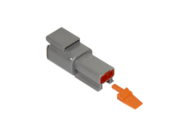 CONNECTOR RECEPTACLE 2 PIN COMPLETE WITH LOCKING WEDGE DEUTSCH # DTM04-2P-W