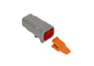 CONNECTOR PLUG 4 SOCKET COMPLETE WITH LOCKING WEDGE DEUTSCH # DTM06-4S-W