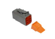 CONNECTOR PLUG 6 SOCKET COMPLETE WITH LOCKING WEDGE DEUTSCH # DTM06-6S-W