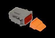 CONNECTOR PLUG 8 SOCKET COMPLETE WITH LOCKING WEDGE DEUTSCH # DTM06-8S-W