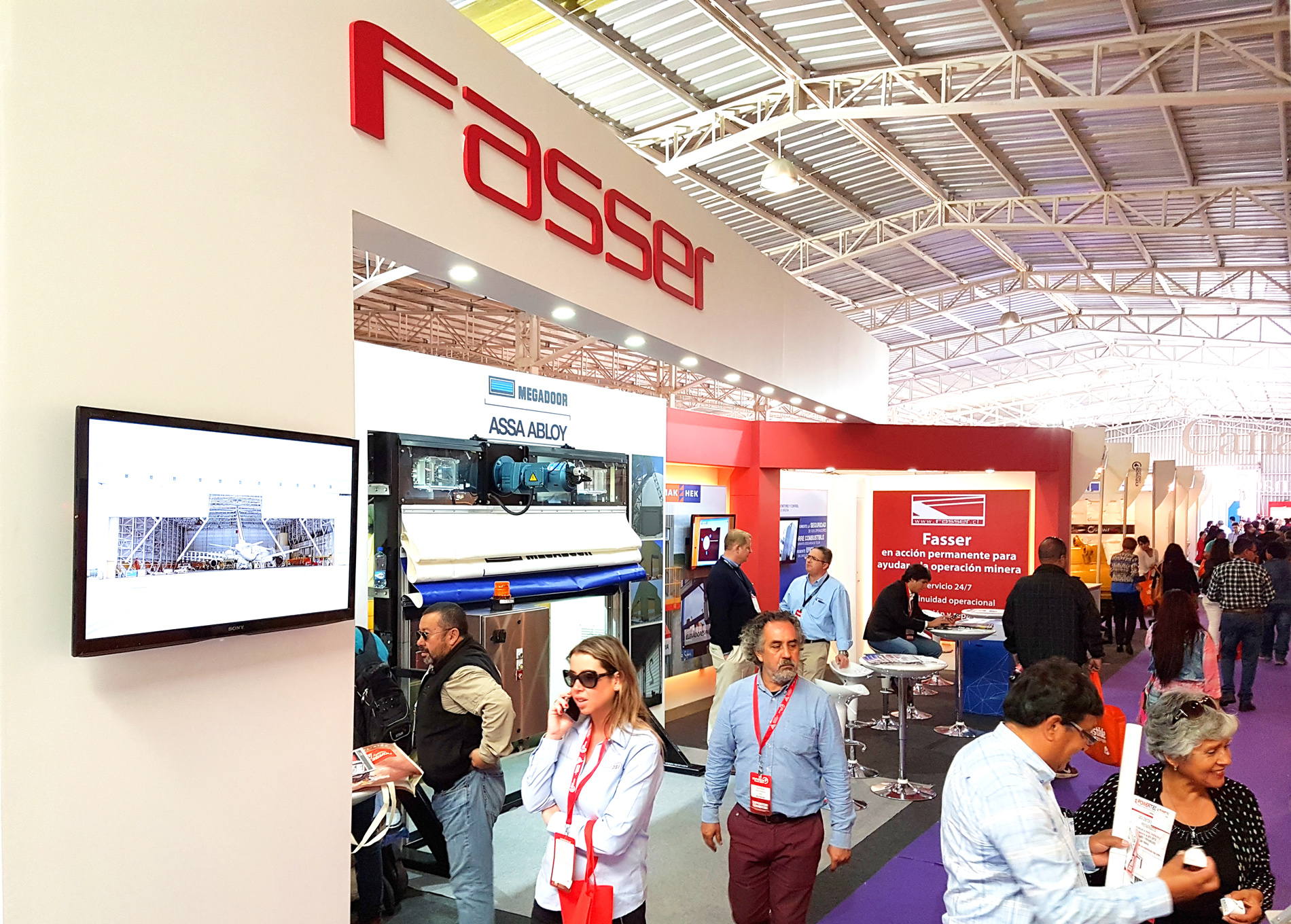 RCT exhibited with channel partner, Fasser at this year's Exponor in Chile.