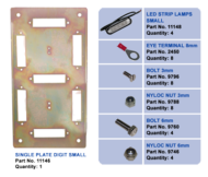 LIGHT VEHICLE LED FLEET NUMBER KIT 4