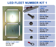 LED FLEET NUMBER KIT 1