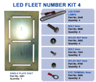LED FLEET NUMBER KIT 4