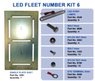LED FLEET NUMBER KIT 6