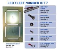 LED FLEET NUMBER KIT 7