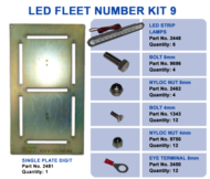 LED FLEET NUMBER KIT 9