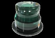STROBE LIGHT 130MM GREEN 12 - 72V 3 BOLT MOUNT HELLA # 1663