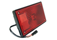 RECTANGULAR SINGLE SIDED LAMP STOP / TAIL RED, CABLE ENTRY: REAR