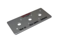 Aluminium Teleremote/Guidance Circuit Breaker Label