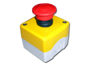 EMERGENCY STOP CONTROL - PLASTIC - WITH 1 x NORMALLY CLOSED CONTACT