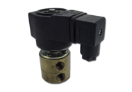 AIR SOLENOID VALVE 24V 3 PORT NORMALLY OPEN - DIN PLUG