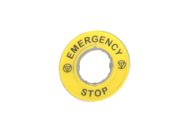 LABEL EMERGENCY STOP T/S 8918 TELEMECANIQUE # ZBY-9330